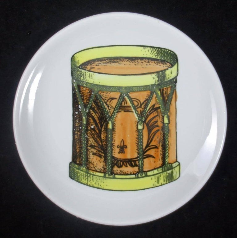 Set of Eight Midcentury Bucciarelli Musical Coasters, circa 1960 For Sale 3
