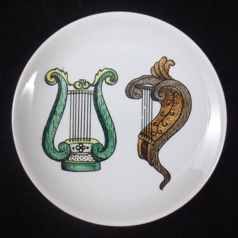 Set of Eight Midcentury Bucciarelli Musical Coasters, circa 1960 For Sale 2