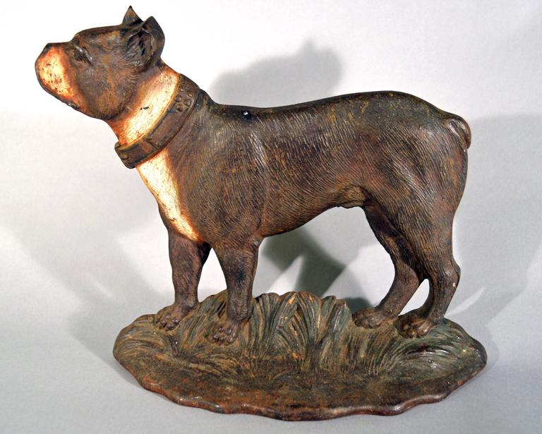 Connecticut Cast Iron Doorstop In The Form Of A Boston Terrier For