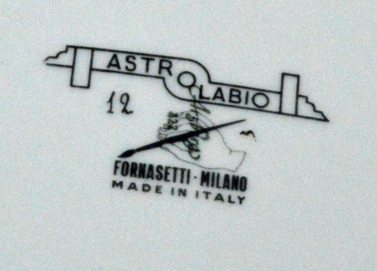 Mid-Century Modern Piero Fornasetti Astrolabe Plate, Number Twelve in Astrolabio Series For Sale