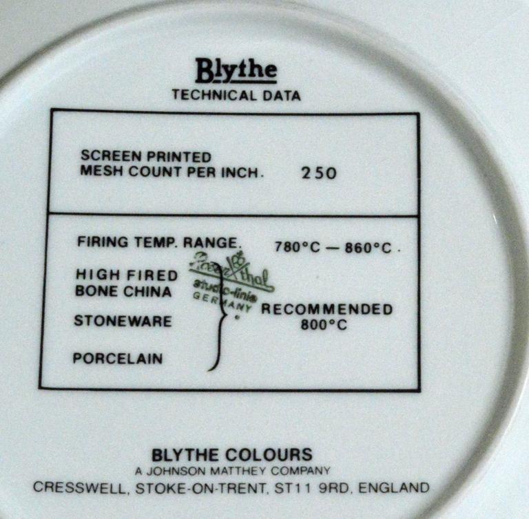 20th Century Blythe Factory Artist Color Porcelain Sample Plates '4'