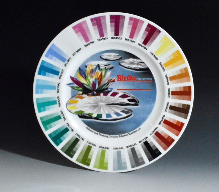English Blythe Factory Artist Color Porcelain Sample Plates '4'
