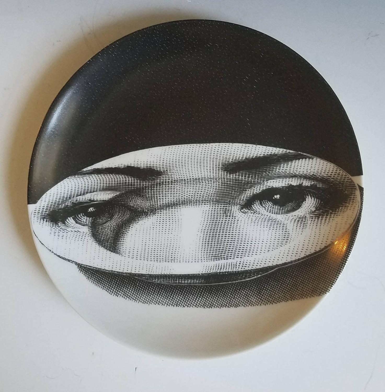 12 Atelier Fornasetti Tema E Variazioni Plates For Sale at