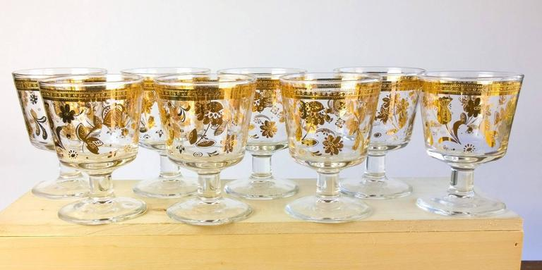 Vintage Culver Chantilly Pattern Forty Piece Glass Drinks Set, 1950-1960s 2