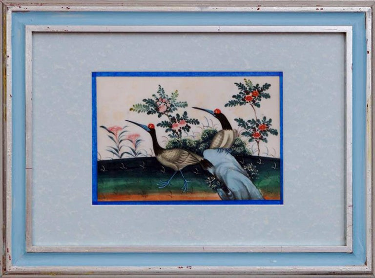 China trade set of 12 pith paper paintings of birds circa for K decorations trading