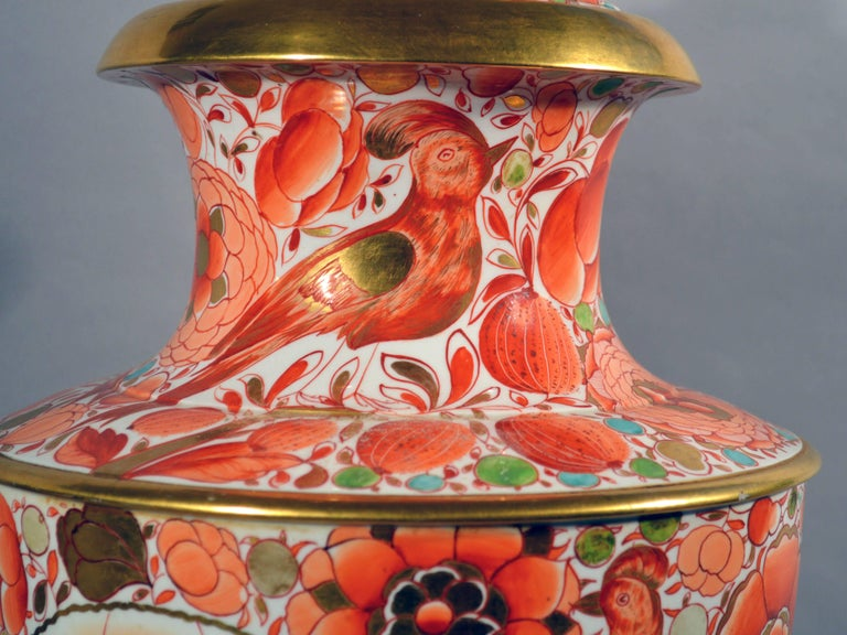 English Regency Period Porcelain Massive Urn and Cover, 1820-1835 For Sale 3