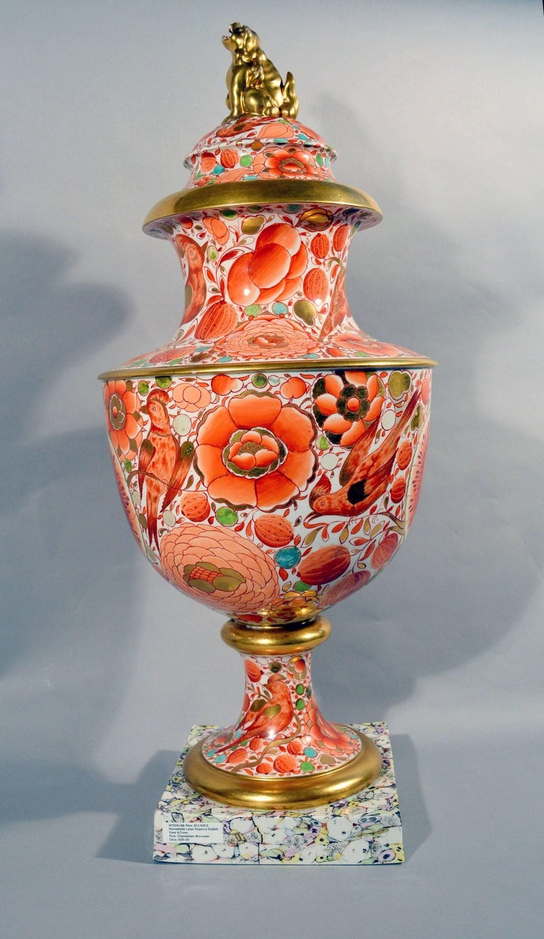 English Regency Period Porcelain Massive Urn and Cover, 1820-1835 For Sale 4