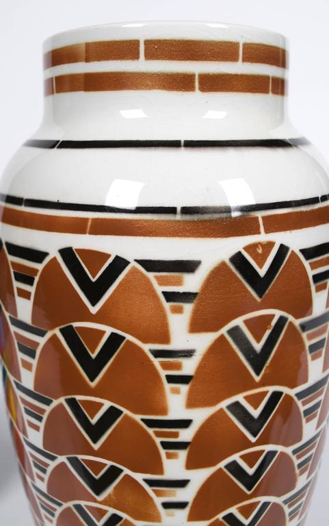 French Art Deco Period Ceramic Vase by Keller & Guerin Luneville, circa 1920s 2