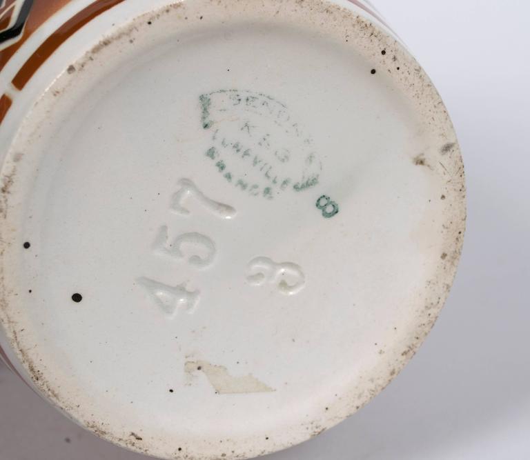 French Art Deco Period Ceramic Vase by Keller & Guerin Luneville, circa 1920s 3