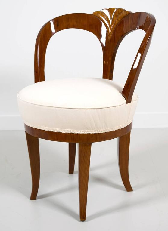 """Pair of Early 19th Century Austrian Biedermeier Ash Wood """"His and Hers"""" Chairs 2"""