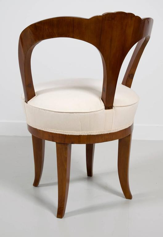 """Pair of Early 19th Century Austrian Biedermeier Ash Wood """"His and Hers"""" Chairs 3"""