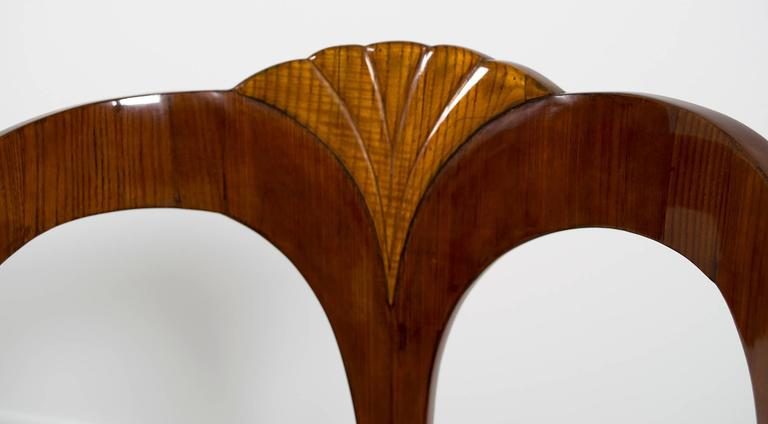 """Pair of Early 19th Century Austrian Biedermeier Ash Wood """"His and Hers"""" Chairs 4"""
