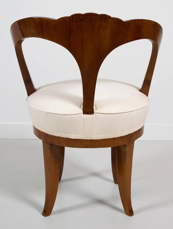 """Pair of Early 19th Century Austrian Biedermeier Ash Wood """"His and Hers"""" Chairs 5"""