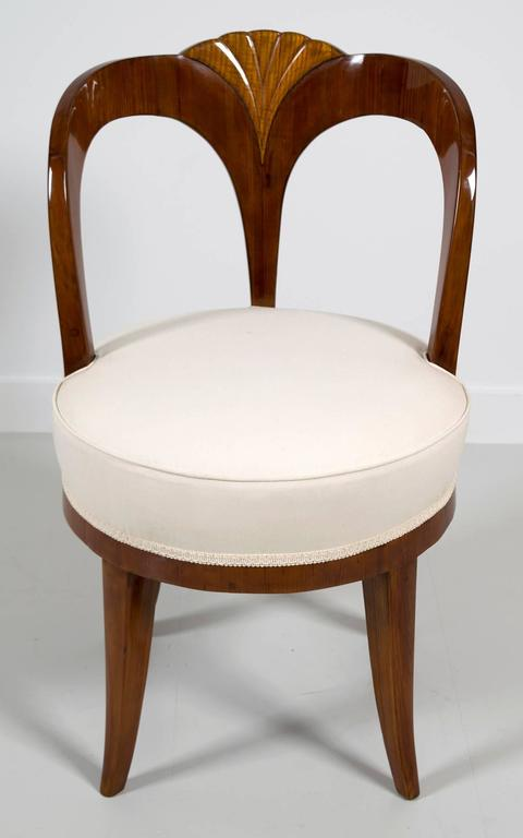"""Pair of Early 19th Century Austrian Biedermeier Ash Wood """"His and Hers"""" Chairs 7"""