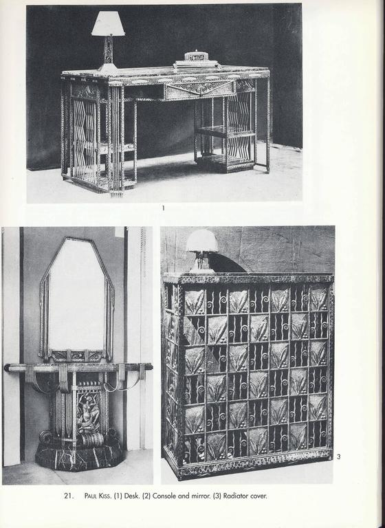 French Art Deco Wrought Iron and Marble Partner's Desk by Paul Kiss, circa 1920s 8
