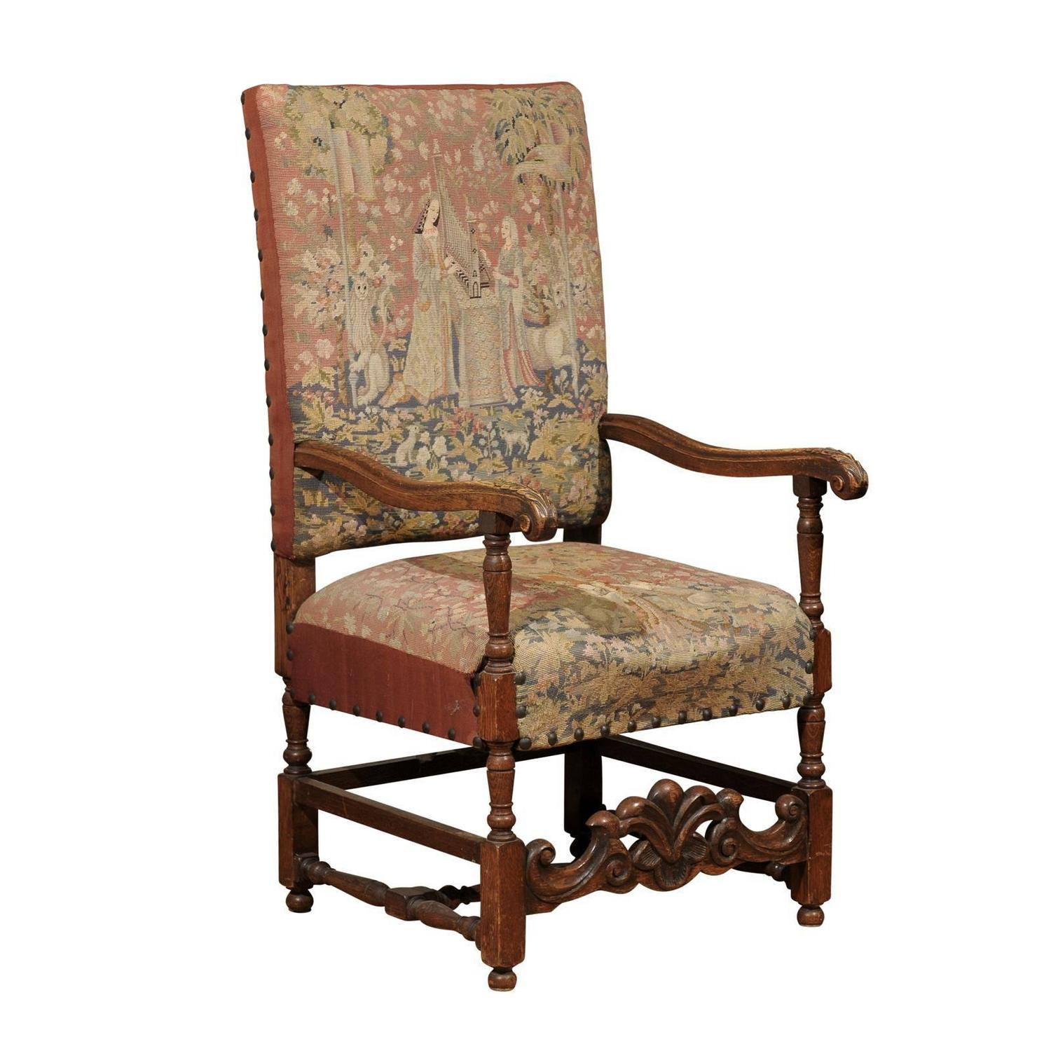 18th Century Needlepoint Armchair 1