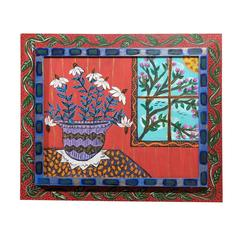 21st Century Sarah Rakes Folk Art Painting