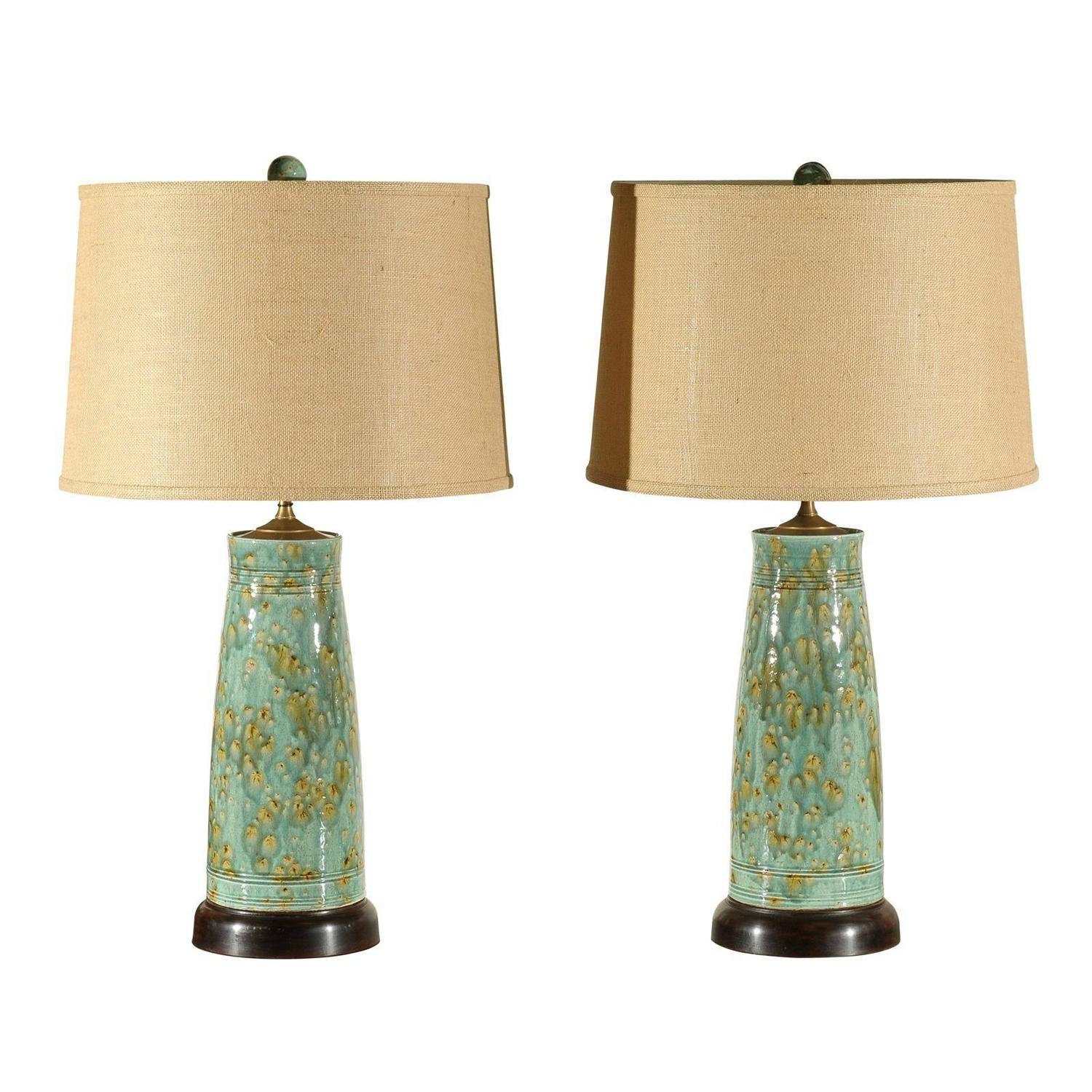 Pair Of Charlie West Table Lamps At 1stdibs