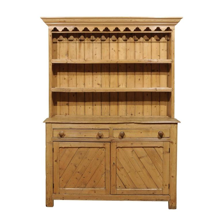English Pine Dresser, circa 1800s