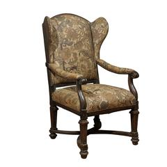 Good 18th Century English Upholstered Wingback Chair