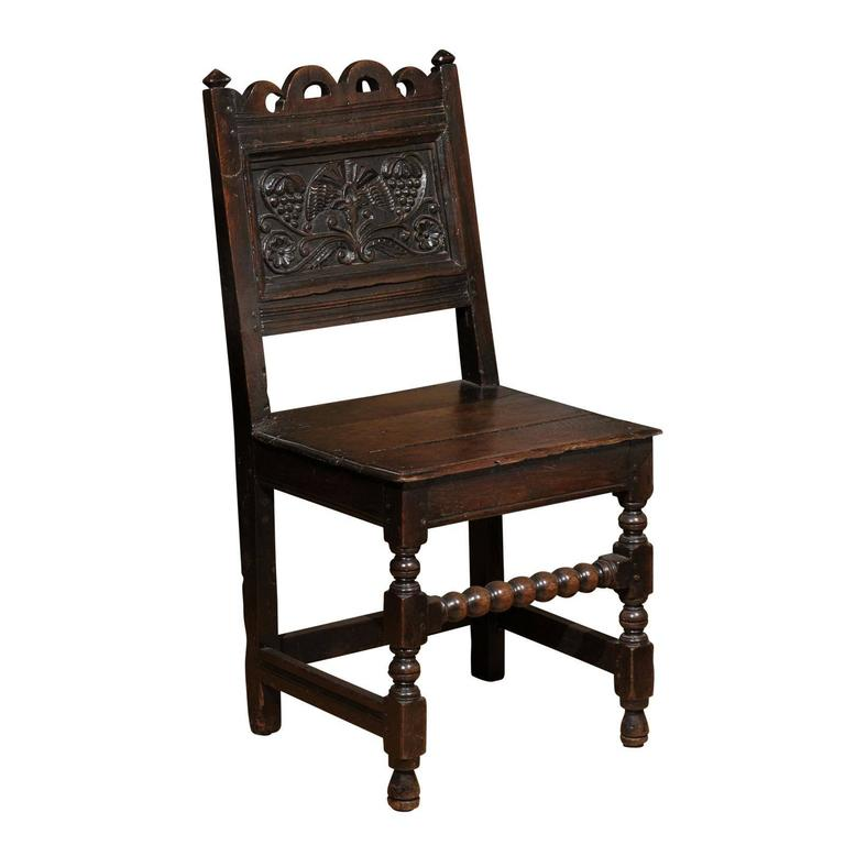 17th Century Jacobean Oak Chair For Sale At 1stdibs