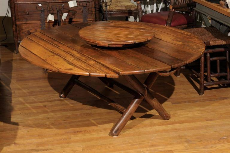 Old Hickory Coffee Table With Lazy Susan For Sale At 1stdibs