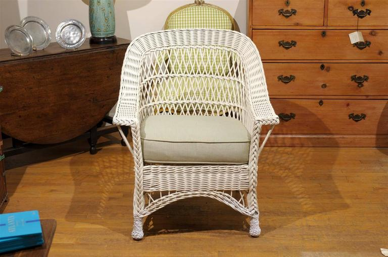 American wicker chair circa 1915 1920 at 1stdibs for American rattan furniture manufacturer