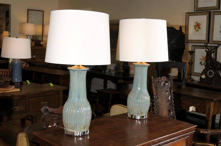 Pair of charlie west lamps at 1stdibs pair of charlie west lamps in excellent condition for sale in atlanta ga mozeypictures Gallery