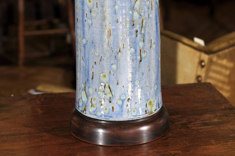 Pair Of Charlie West Pottery Lamps At 1stdibs