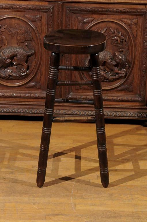 English Saddle Stool 19th Century For Sale At 1stdibs