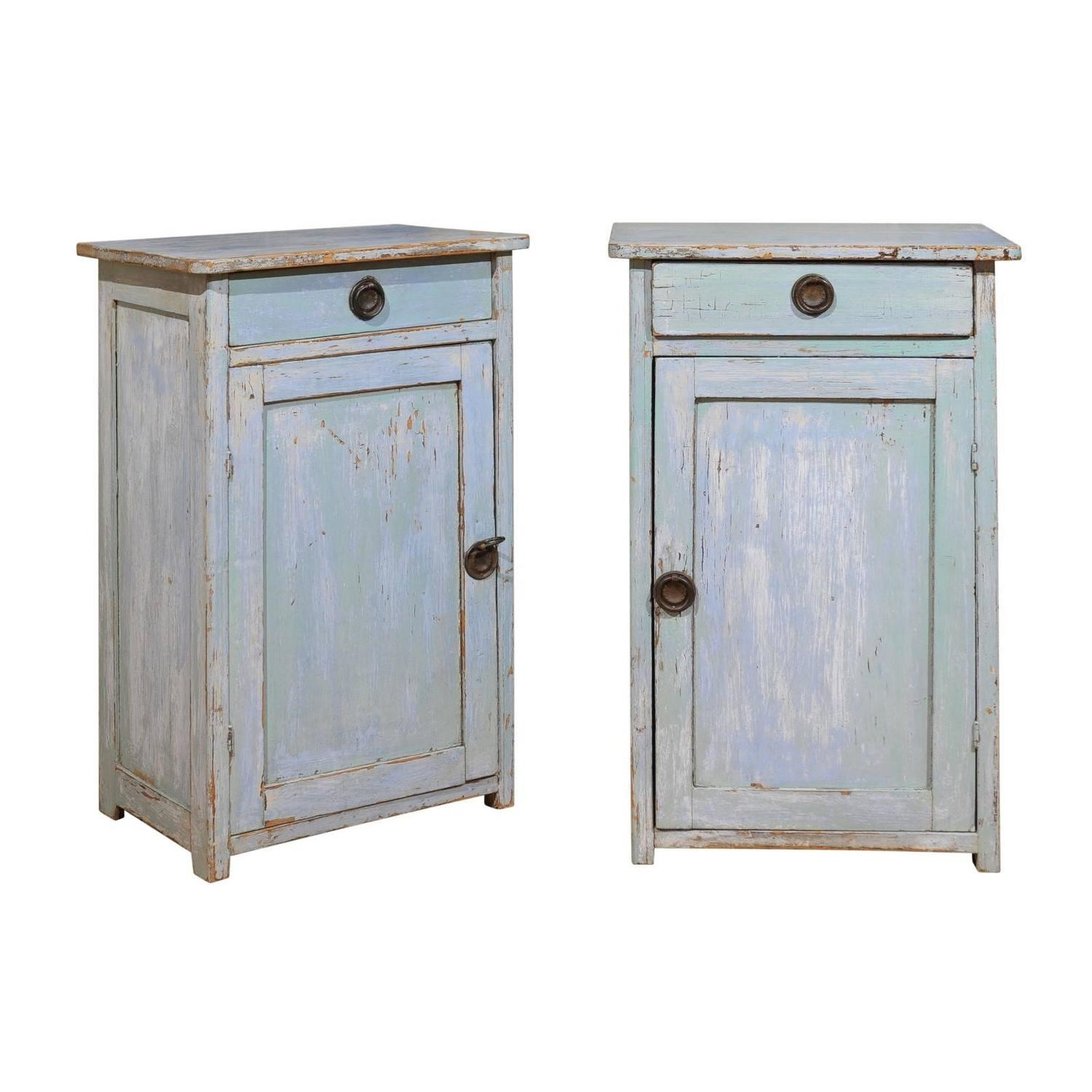 Late 19th Century beside Cupboards with Original Paint For Sale at ...