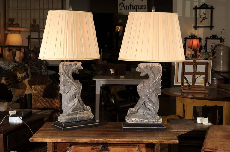 Pair Of Lamps From Architectural Pieces For Sale At 1stdibs