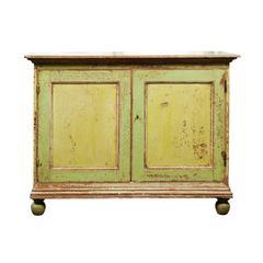 19th Century English Original Painted Cupboard