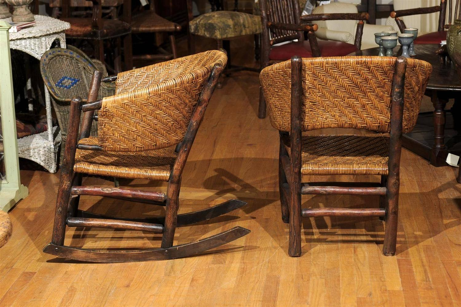 Indiana hickory furniture company rocker and chair for for Furniture indiana pa
