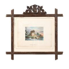 Water Color in Black Forest Frame