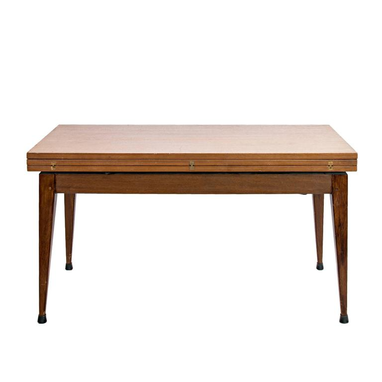 Vintage Compass Convertible Rosewood Table At 1stdibs
