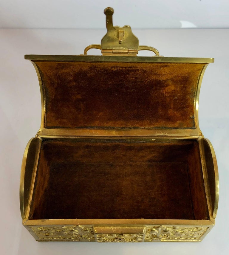 Antique German Bronze Jewel Box, circa 1890-1900 In Excellent Condition For Sale In New Orleans, LA