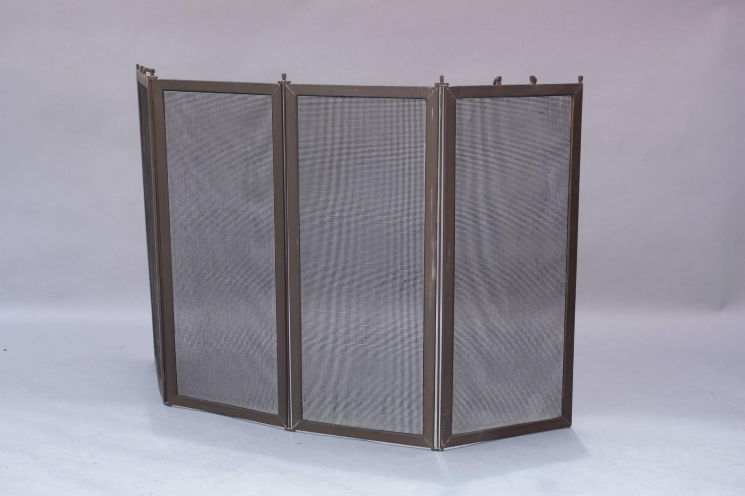 Brass 1910 Fire Screen For Sale At 1stdibs