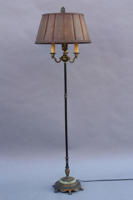 1920s Floor Lamp With Original Mica Shade At 1stdibs