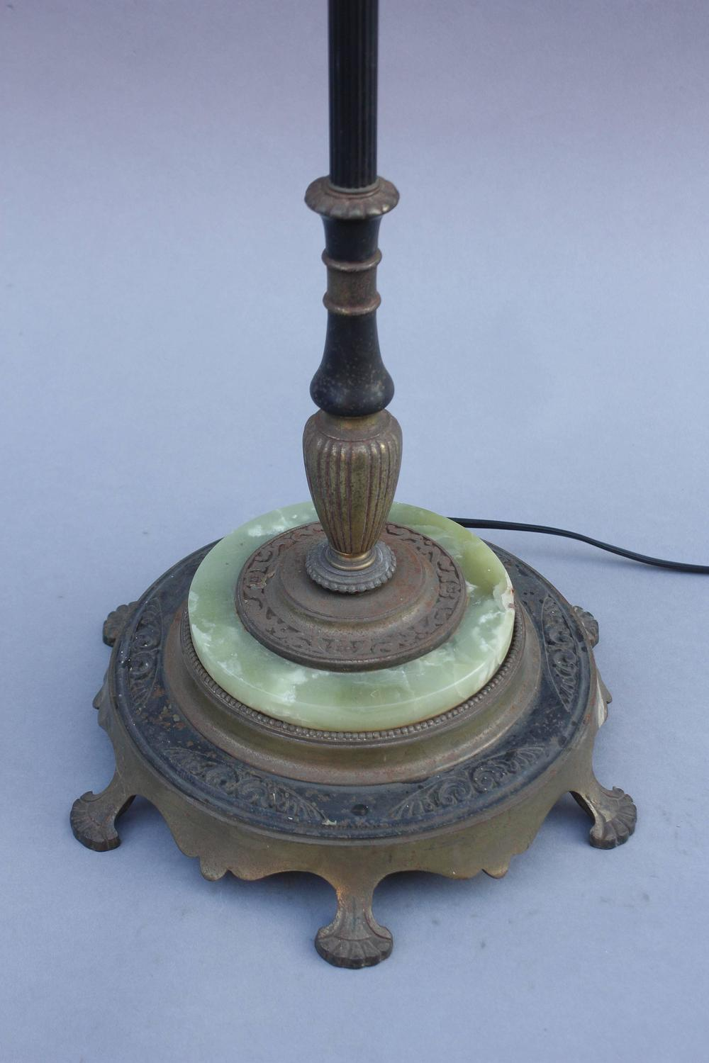 1920s floor lamp with original mica shade for sale at 1stdibs for 1920 s wood floor lamp