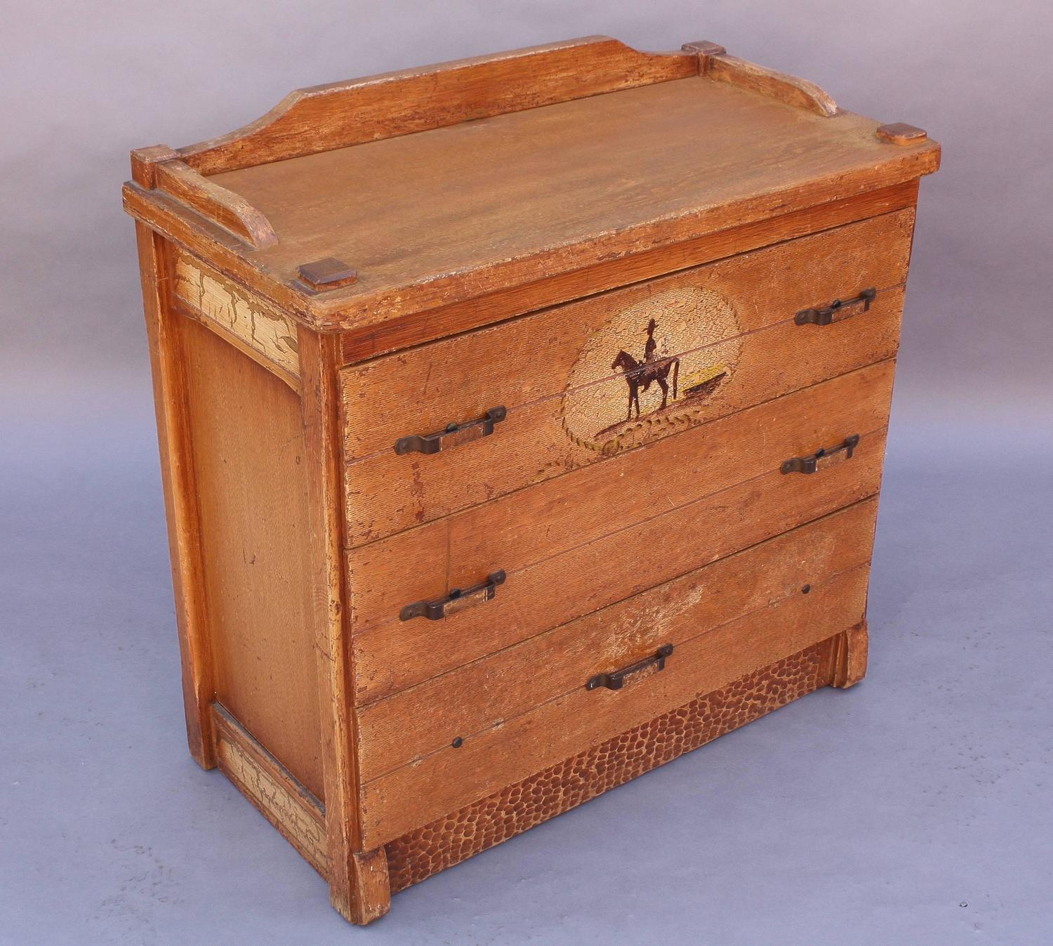 1930s hand painted rancho monterey period dresser for sale at 1stdibs. Black Bedroom Furniture Sets. Home Design Ideas