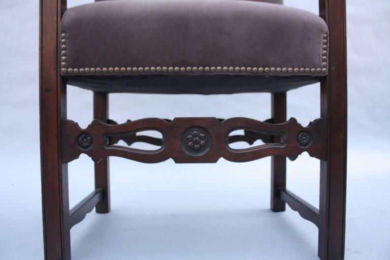 American 1920s Spanish Revival Armchair For Sale