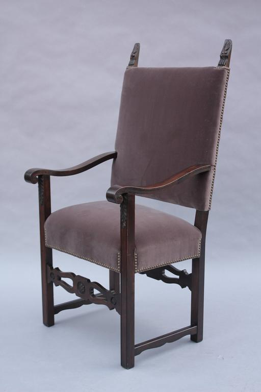 1920s Spanish Revival Armchair For Sale 1