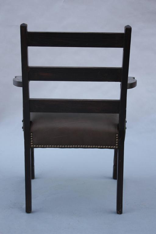 Early 20th Century 1920s Spanish Revival Armchair For Sale