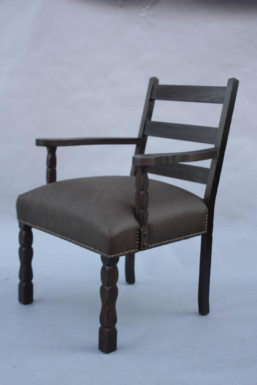1920s Spanish Revival Armchair For Sale 4