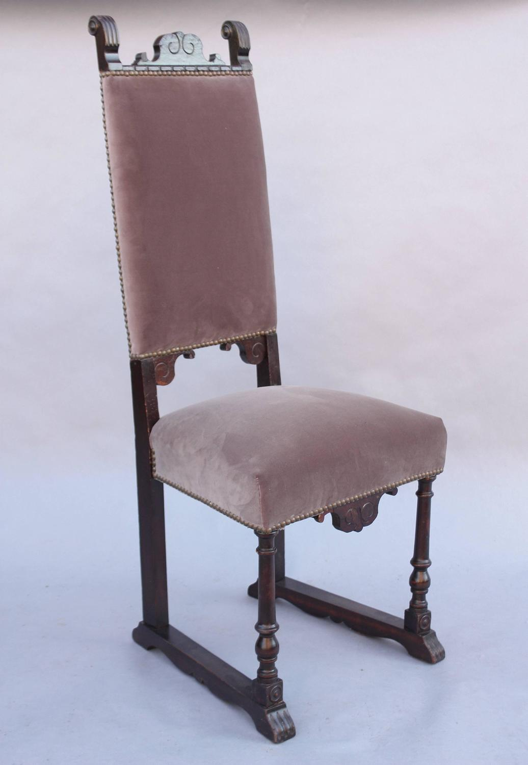 1920s Spanish Revival Side Chair For Sale at 1stdibs