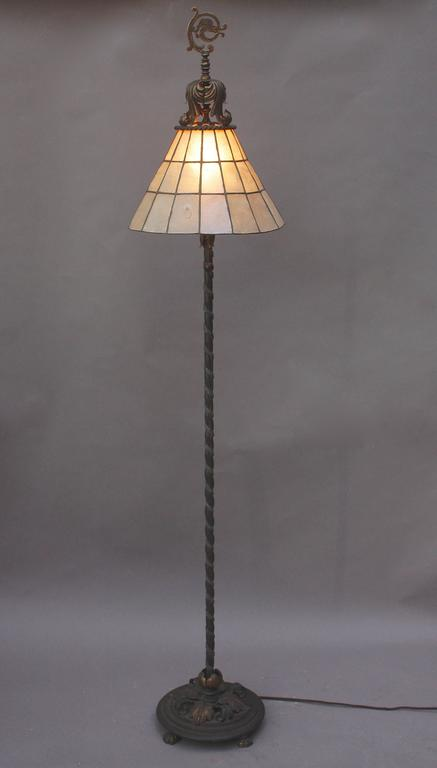 1920s floor lamp in the style of oscar bach at 1stdibs for 1920s floor lamps