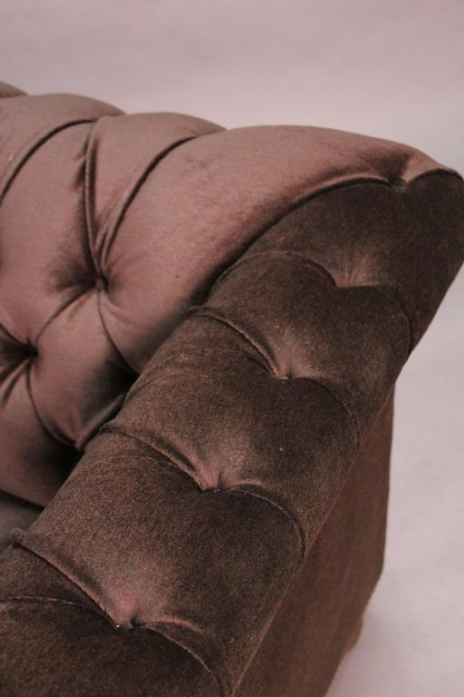 Classic Dark Brown Mohair Chesterfield For Sale 1