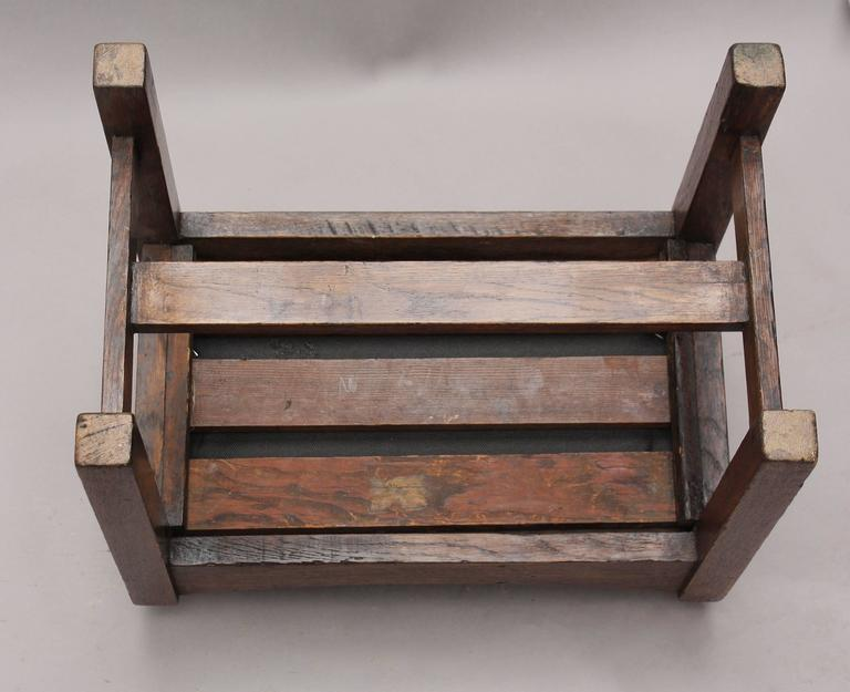 Early 20th Century 1910 Arts & Crafts Foot Stool or Bench For Sale