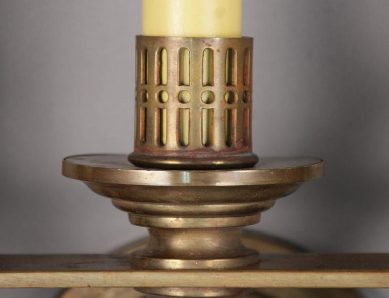 Early 20th Century Pair of 1920s Three-Light Sconces Attributed to the Caldwell Company For Sale